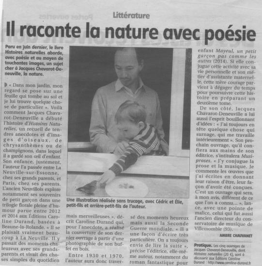 Histoires naturelles de Jacques Chavarot-Deneuville