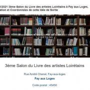 3e salon du livre de fay aux loges