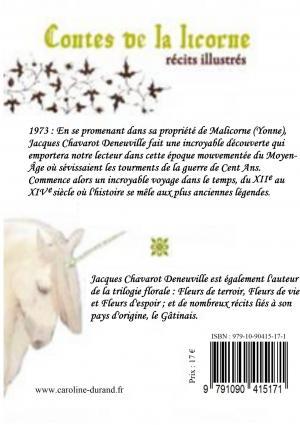 quatrième de couverture Contes de la licorne