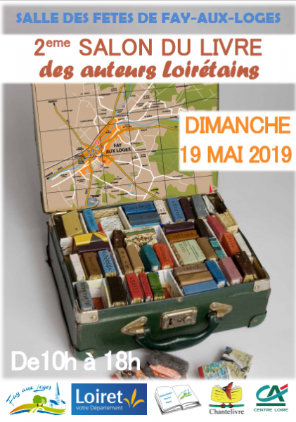 Affiche salon du livre fay aux loges 2019